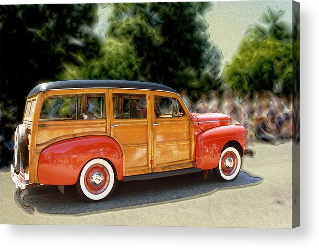 Classic Automobile Acrylic Print featuring the photograph Classic Woody Station Wagon by Roger Soule