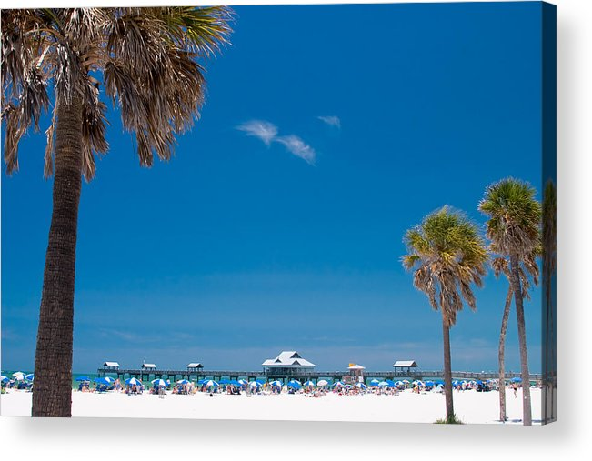 3scape Acrylic Print featuring the photograph Clearwater Beach by Adam Romanowicz