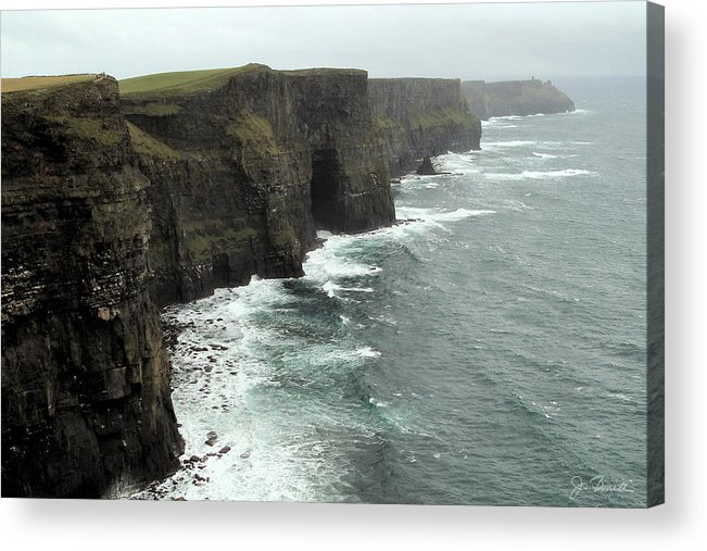 Cliffs Of Moher Acrylic Print featuring the photograph Cliffs Of Moher by Joe Bonita