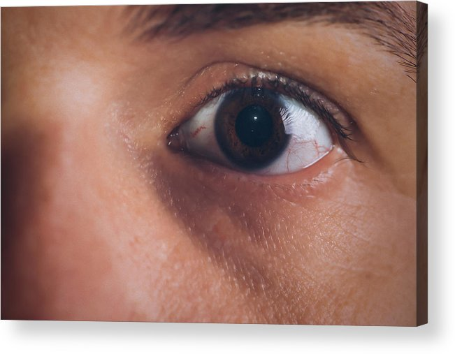 Male Acrylic Print featuring the photograph Close-up Of The Eye Of A Man by Jose Luis Agudo