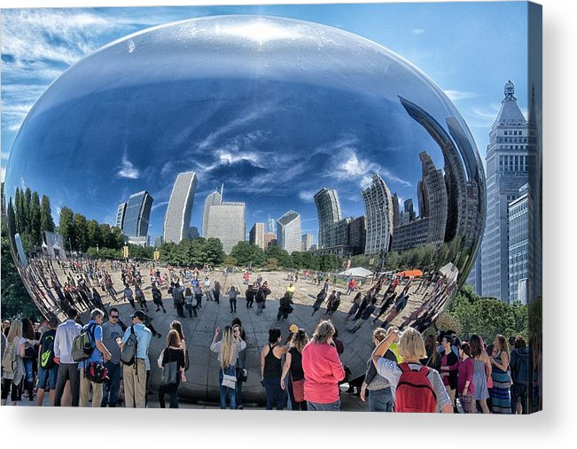 Chicago Acrylic Print featuring the photograph Cloud Gate Reflectioms by Betty Arnold