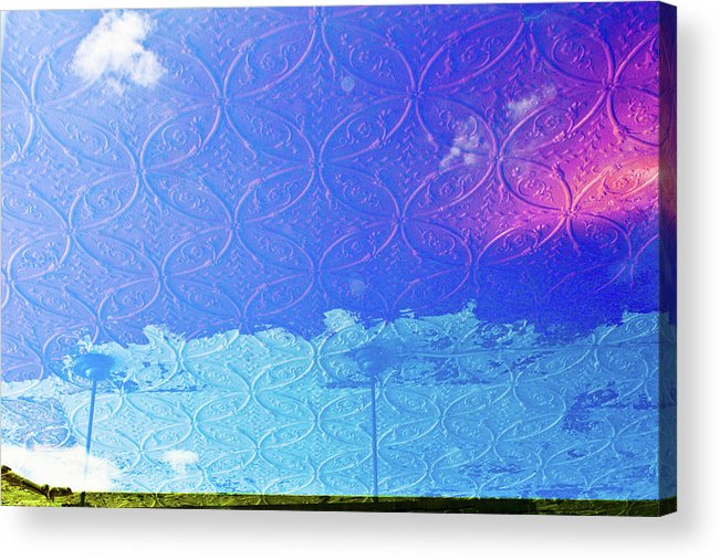 Window Reflection Clouds Dream Acrylic Print featuring the photograph Clouds On The Ceiling by Suzanne Thurman