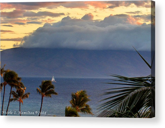 Landscape Acrylic Print featuring the photograph Clouds On The Mountain Top by Nicole I Hamilton