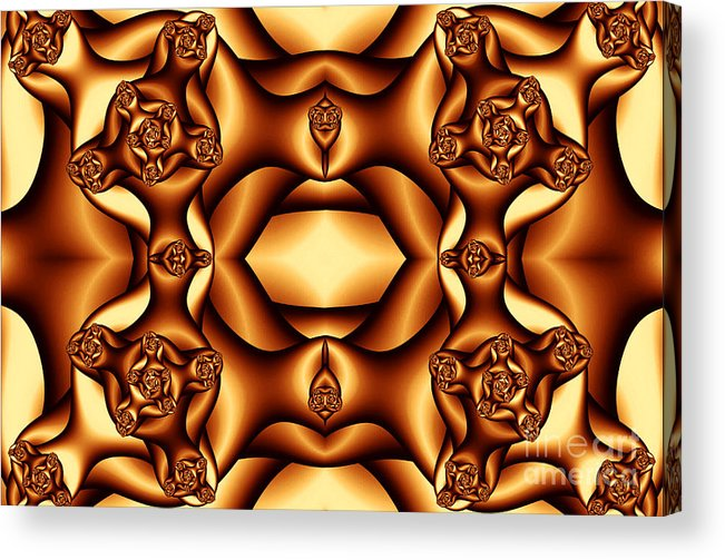 Clay Acrylic Print featuring the digital art Cocoa Fractal Roses by Clayton Bruster