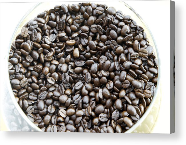 Aroma; Brazilian; Beans; Coffee Acrylic Print featuring the photograph Coffee Beans From Brazil by Steve Outram
