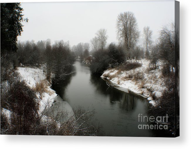 River Acrylic Print featuring the photograph Cold River by Idaho Scenic Images Linda Lantzy