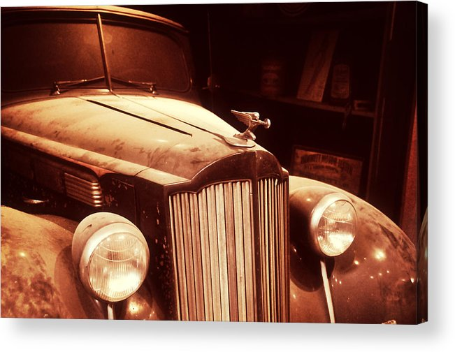 1937 Acrylic Print featuring the photograph Collecting Dust In The Garage by Mike Martin