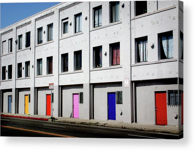Doors Acrylic Print featuring the photograph Colorful Doors- By Linda Woods by Linda Woods