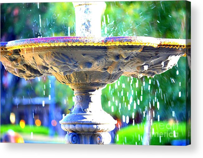 New Orleans Acrylic Print featuring the photograph Colorful New Orleans Fountain by Carol Groenen