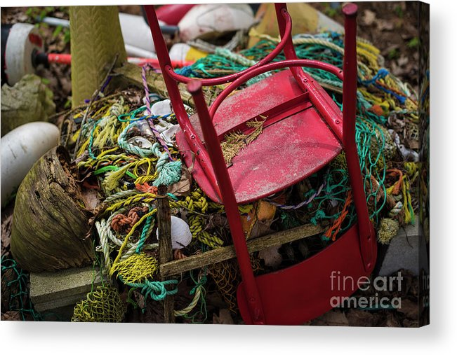 Chair Acrylic Print featuring the photograph Colorful Pile 1 by Deborah Brown