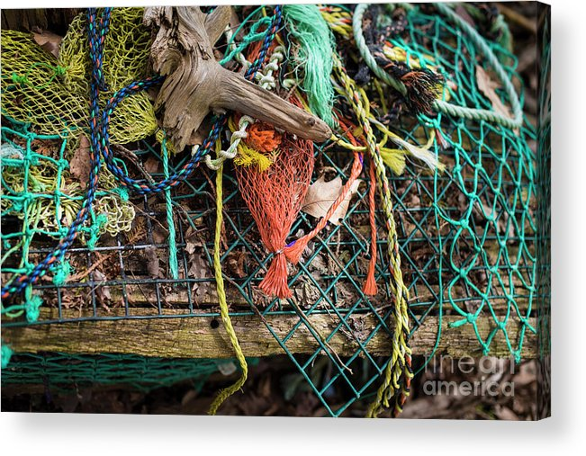 Lobster Trap Acrylic Print featuring the photograph Colorful Pile 3 by Deborah Brown