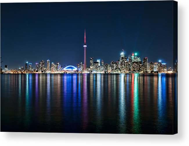 Toronto Acrylic Print featuring the photograph Colorful Reflections Of Toronto by Mark Whitt
