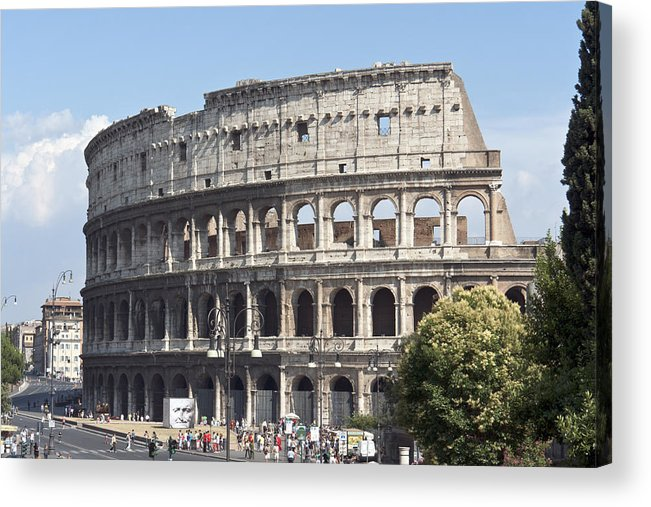 Colosseum Acrylic Print featuring the photograph Colosseo I by Fabrizio Ruggeri