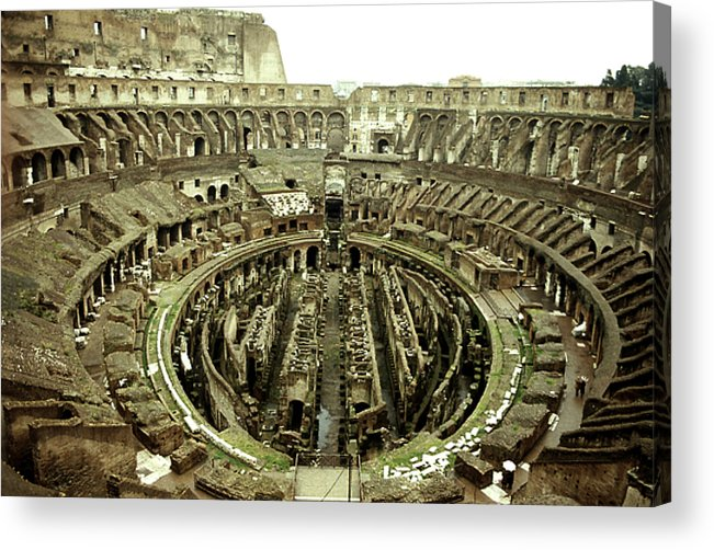 Amphitheater Acrylic Print featuring the photograph Colosseum by Emanuel Tanjala