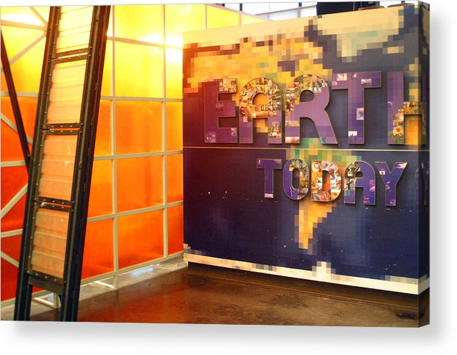 Jez C Self Acrylic Print featuring the photograph Colourful Earth by Jez C Self