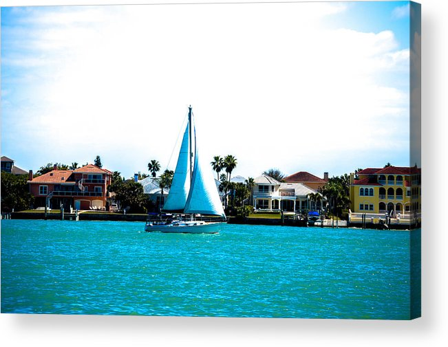 Sailboat Acrylic Print featuring the photograph Come Sail Away by Amanda Liner