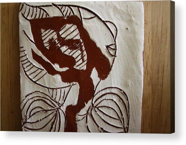 Jesus Acrylic Print featuring the ceramic art Comfort - Tile by Gloria Ssali