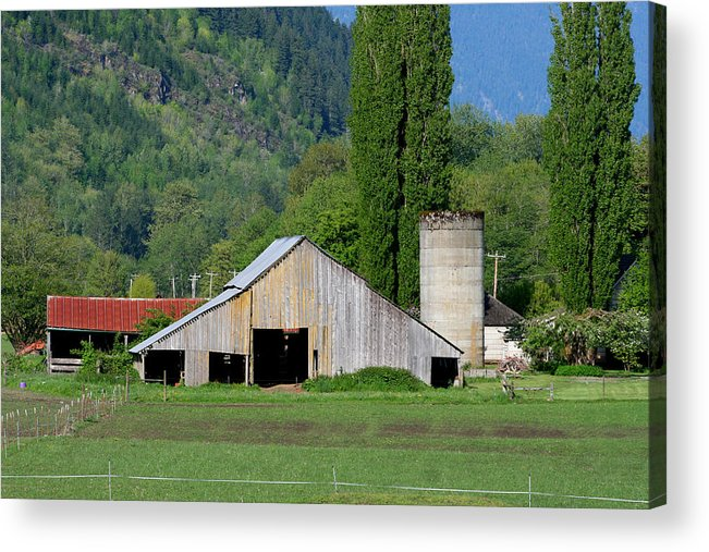 Barn Acrylic Print featuring the photograph Concrete Barn Summer Ba-2008 by Mary Gaines