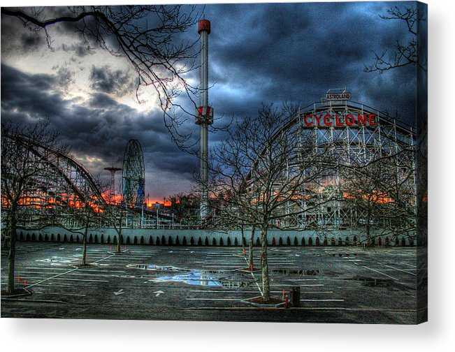 Cyclone Acrylic Print featuring the photograph Coney Island by Bryan Hochman