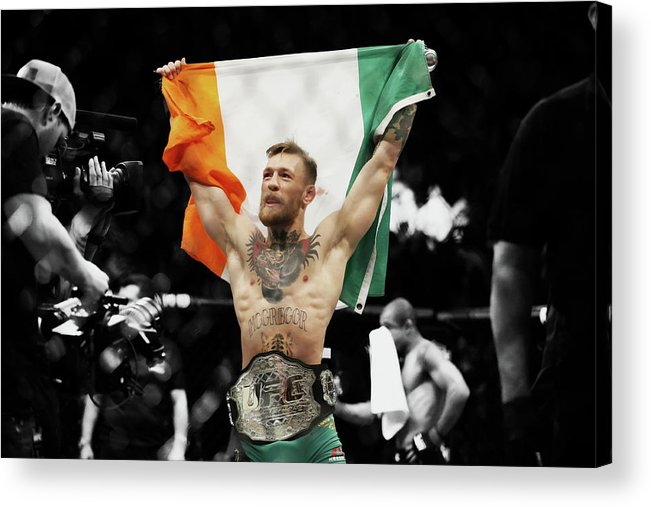 Conor Mcgregor Acrylic Print featuring the mixed media Conor Mcgregor 2b by Brian Reaves