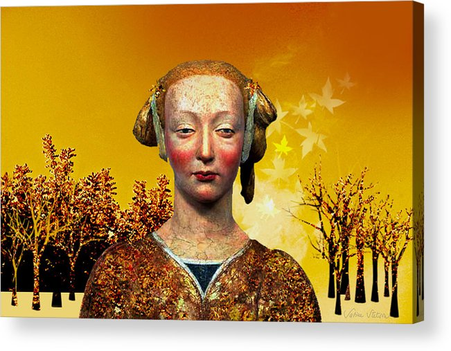 Portrait Acrylic Print featuring the digital art Constance by Sabine Stetson