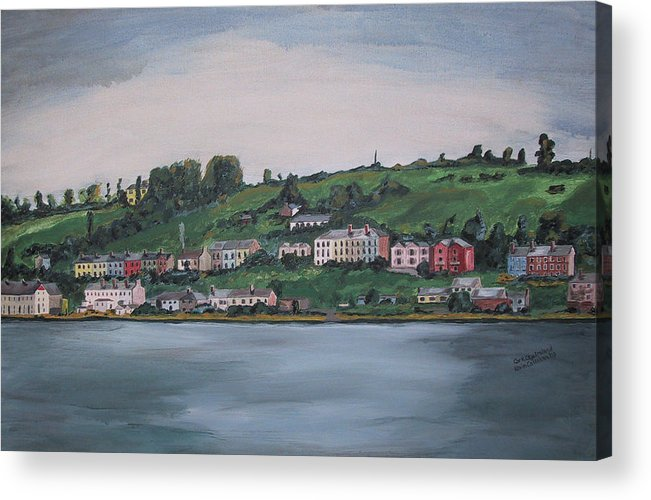 Landscape Acrylic Print featuring the painting Cork City Ireland by Kevin Callahan