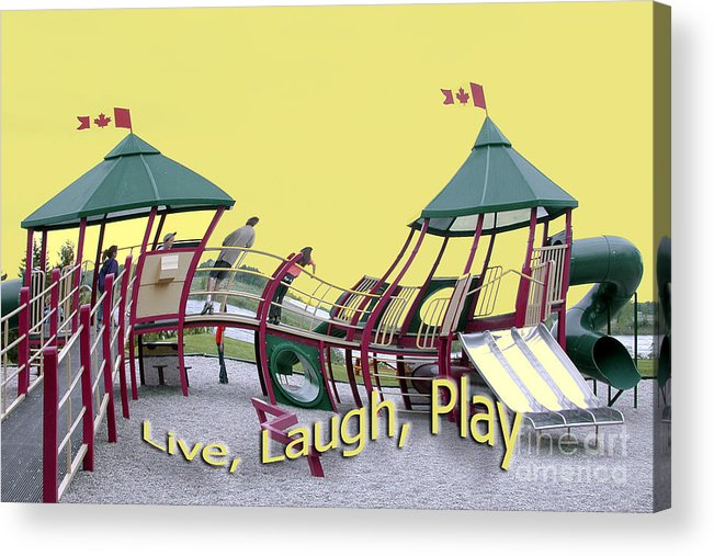 Playground Acrylic Print featuring the photograph Cornwall Play by Jacqueline Milner