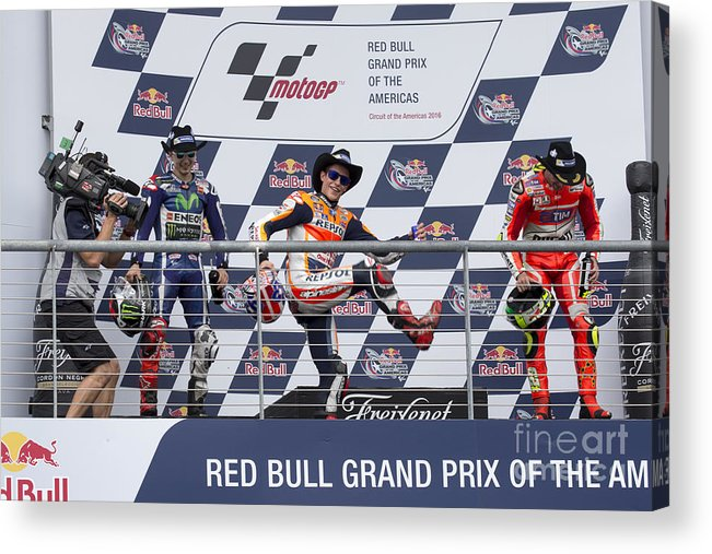 Marquez Acrylic Print featuring the photograph Cota 2016 Podium by Ara Ashjian