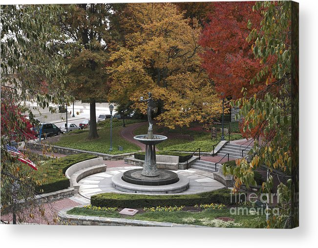 Autumn Acrylic Print featuring the photograph Courthouse Square In Rockville Maryland by William Kuta