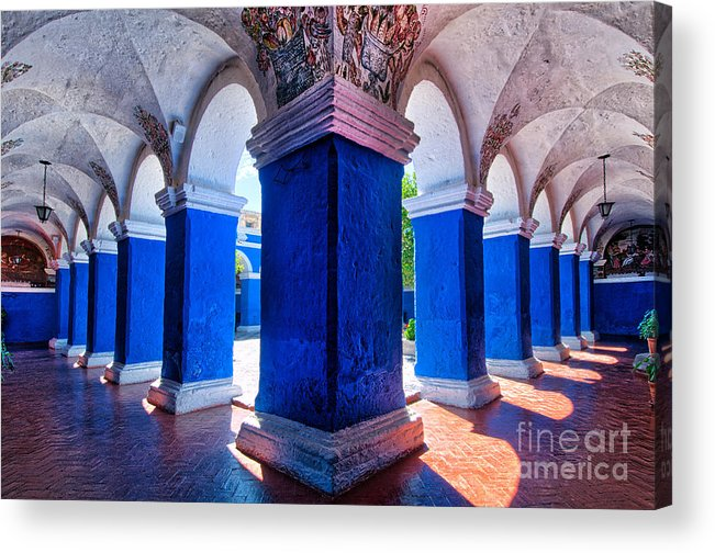 Santa Acrylic Print featuring the photograph Courtyard In Santa Catalina Convent by Colin Woods