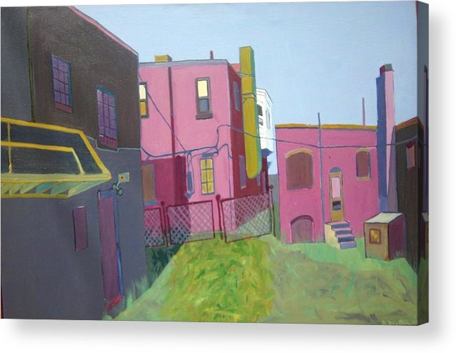 Alleyway Acrylic Print featuring the painting Courtyard View by Debra Bretton Robinson