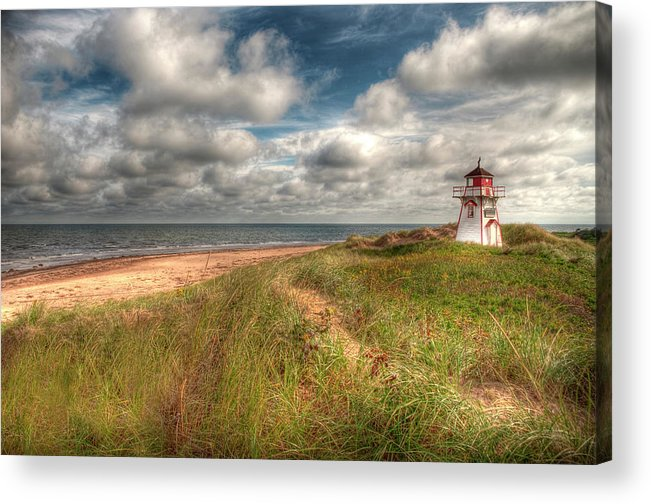 Covehead Acrylic Print featuring the photograph Covehead Lighthouse by Elisabeth Van Eyken