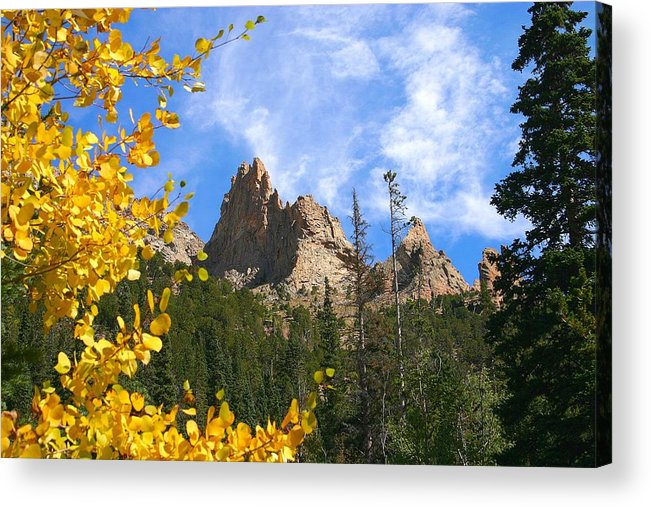 Fall Acrylic Print featuring the photograph Crags In Fall by Perspective Imagery