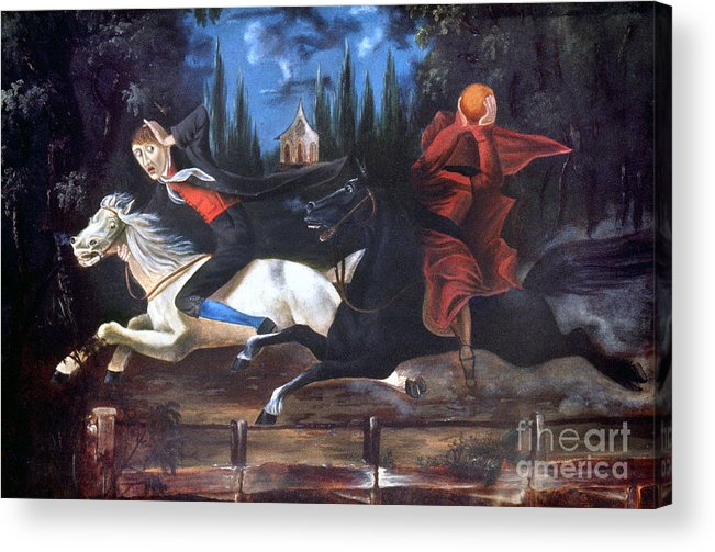 1835 Acrylic Print featuring the photograph Crane And Horseman by Granger