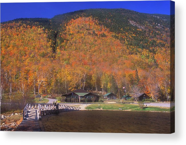 Autumn Acrylic Print featuring the photograph Crawford Notch Willey House by John Burk