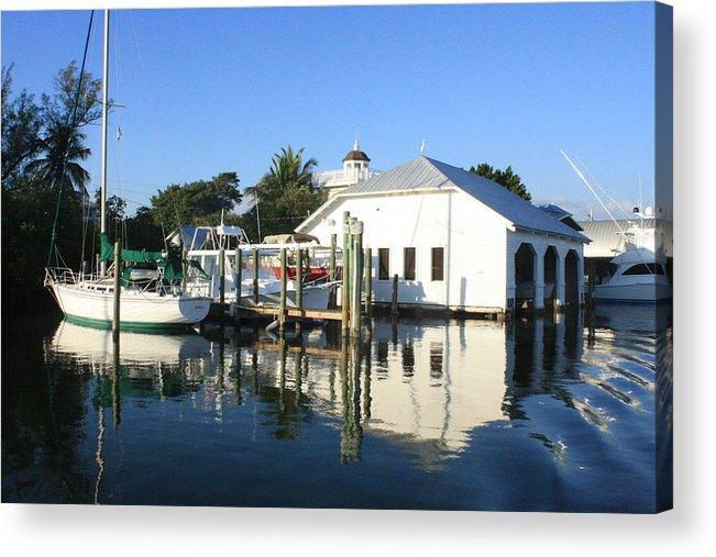 Boca Grande Acrylic Print featuring the photograph Crowninshield Boat House by Tara Moorman Photography