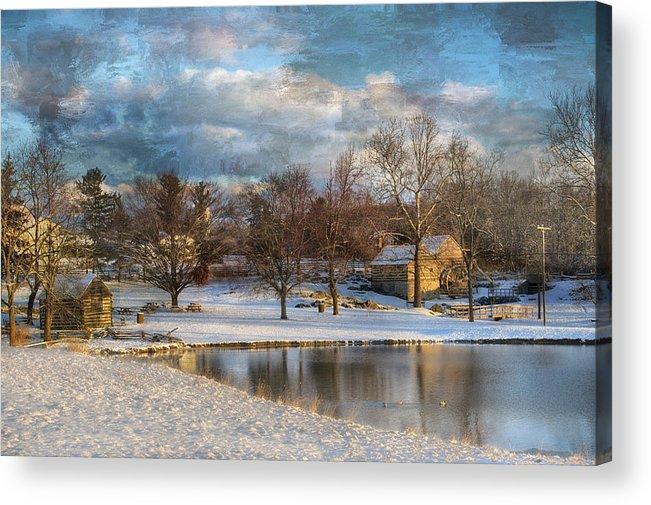 Kathy Jennings Acrylic Print featuring the photograph Cyrus Mccormick Farm by Kathy Jennings