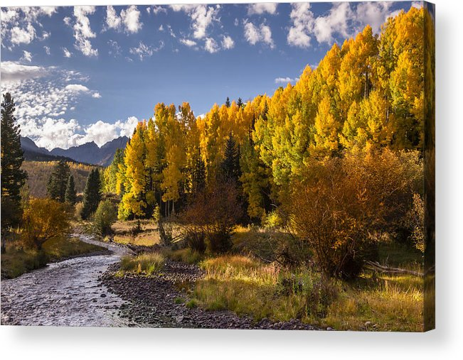 Dallas Divide Acrylic Print featuring the photograph Dallas Creek by Jonathan Steele