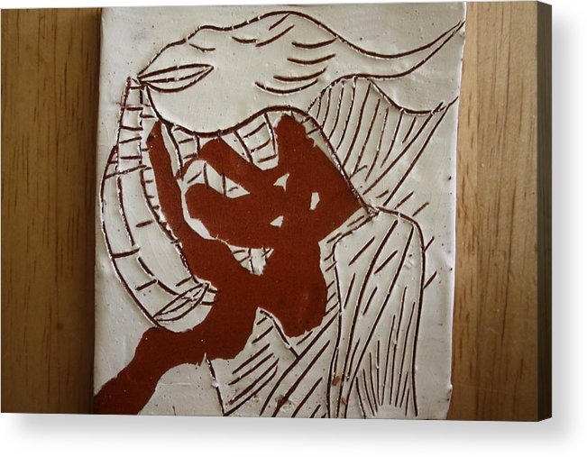 Jesus Acrylic Print featuring the ceramic art Dance - Tile by Gloria Ssali