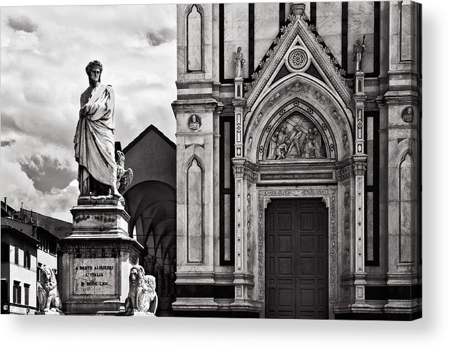 Dante Acrylic Print featuring the photograph Dante At The Church by Mick Burkey