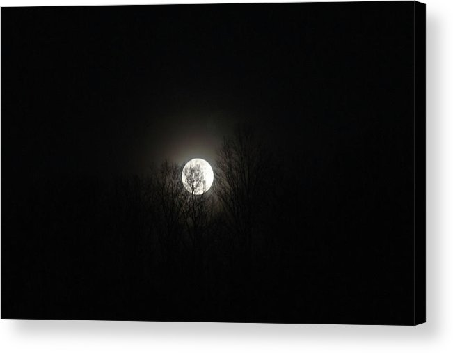 Dark Acrylic Print featuring the photograph Dark Moon by Douglas Barnett