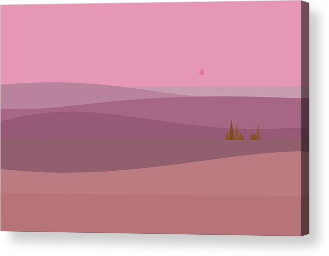 Dawns Pink Acrylic Print featuring the digital art Dawn Pink Sunrise by Val Arie