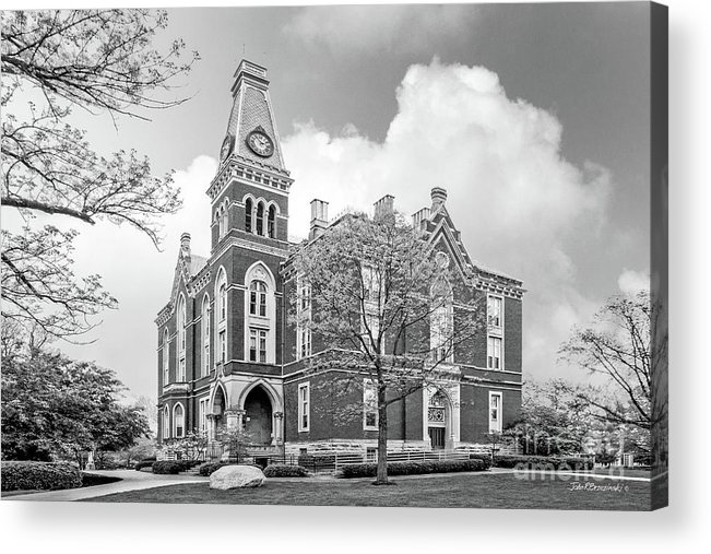 Depauw University Acrylic Print featuring the photograph De Pauw University East College by University Icons