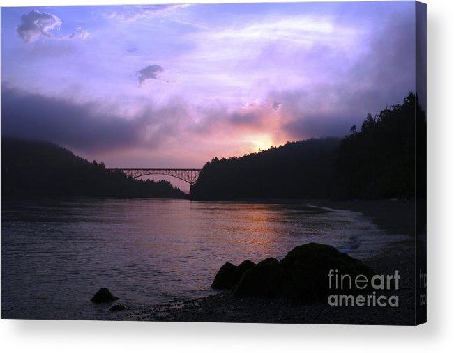 Sunrise Acrylic Print featuring the photograph Deception Pass Sunrise by Idaho Scenic Images Linda Lantzy