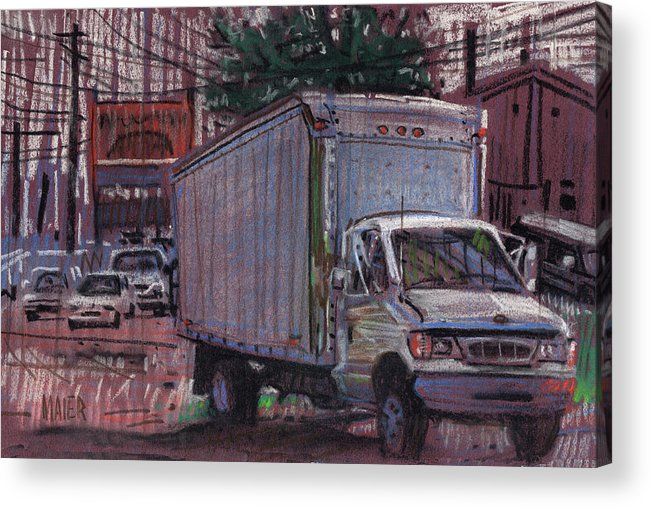 Truck Acrylic Print featuring the drawing Delivery Truck 2 by Donald Maier