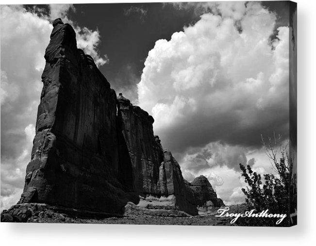 Arches National Park Acrylic Print featuring the photograph Desert Colossus by TroyAnthony Schermer
