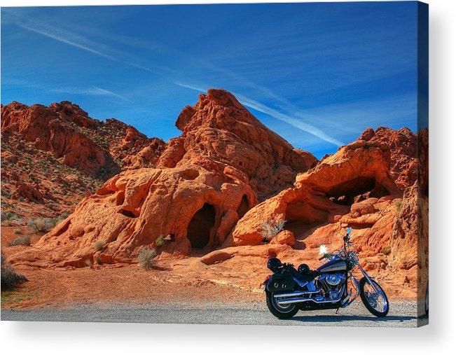 Desert Acrylic Print featuring the photograph Desert Rider by Charles Warren