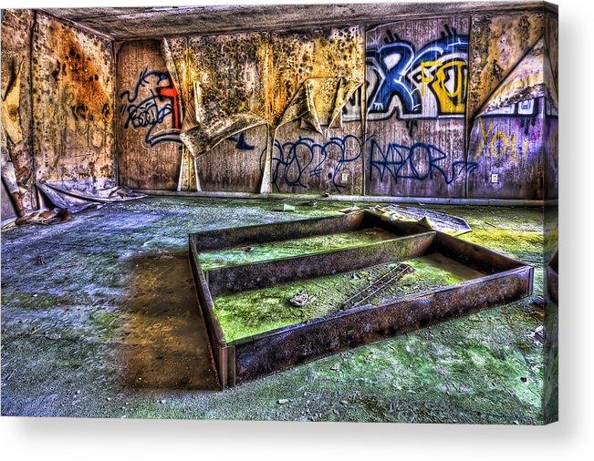 Abandoned Acrylic Print featuring the photograph Destroya by Evelina Kremsdorf
