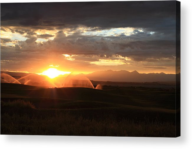 Sunrise Acrylic Print featuring the photograph Devils Thumb Sunrise by Kevin Justin