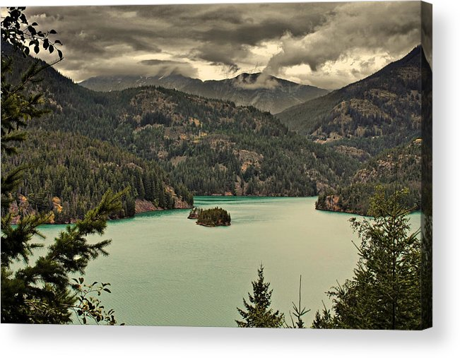 Turquoise Acrylic Print featuring the photograph Diablo Lake - Le Grand Seigneur Of North Cascades National Park Wa Usa by Christine Till